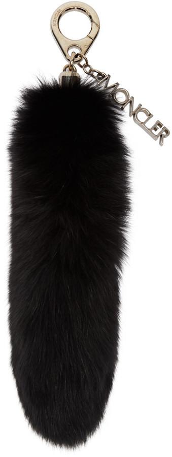 MonclerMoncler Black Fur Keychain
