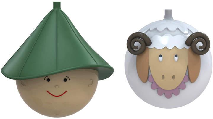 A di Pastorello und Pecorello Weihnachtsbaumkugeln-Set