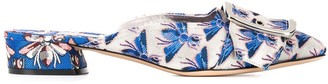 Casadei bug embroidered slippers
