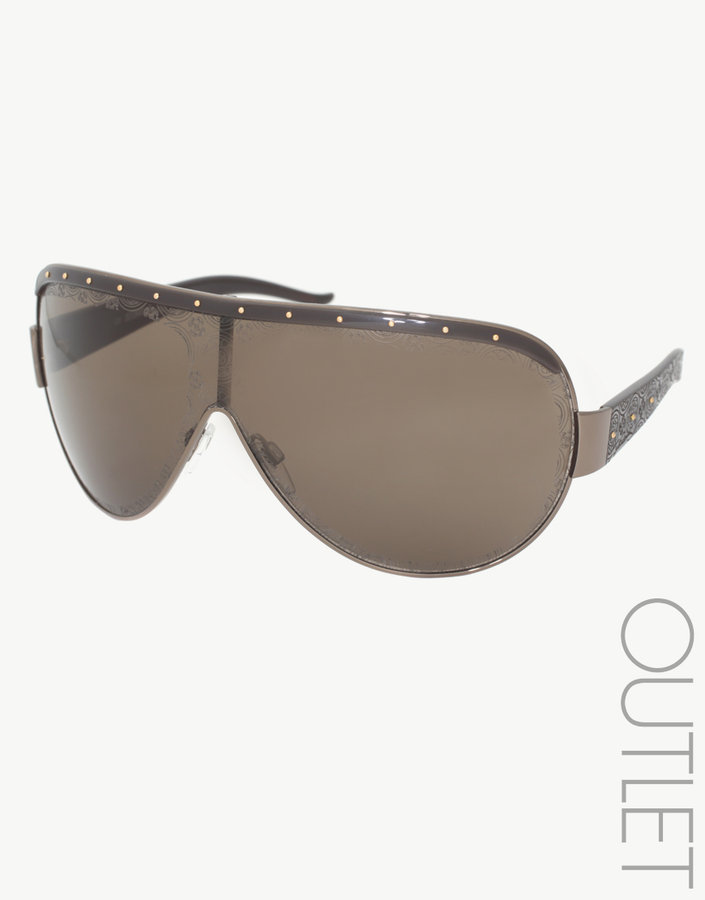 Just Cavalli Studded Wrap Sunglasses