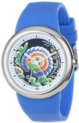 Zotos PeaceLove Quartz Stainless Steel and Silicone Casual Watch