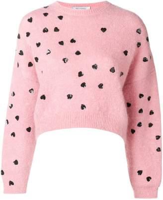 Valentino heart embellished sweater