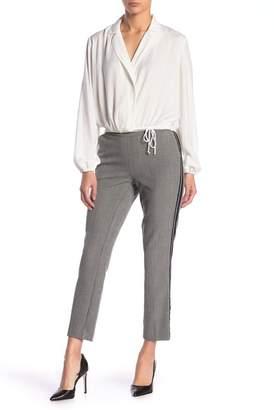 Leighton Plaid Side Stripe Pull-On Pants
