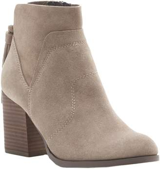 Sole Society Back Tassel Leather Ankle Boots -Ambrose