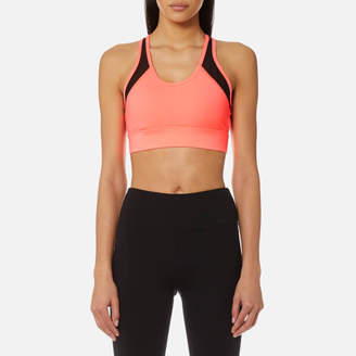 DKNY Sport Women's Mesh Insert V-Neck Bra Top