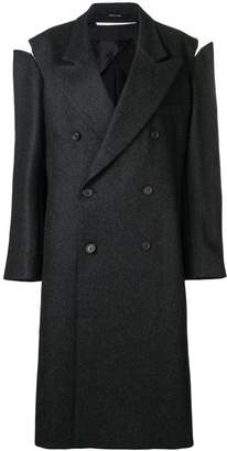 Maison Margiela oversized slash-detail coat