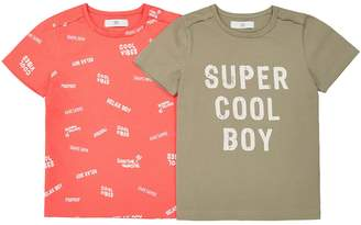 La Redoute Collections Pack of 2 Printed Crew Neck T-Shirts, 3-12 Years