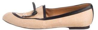 Viktor & Rolf Leather-Trimmed Woven Loafers