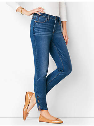 Talbots Zip Hem Comfort Stretch Denim Jeggings - Roxie Wash