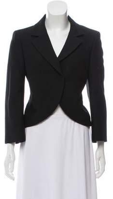 Giambattista Valli Virgin Wool-Blend Cropped Jacket