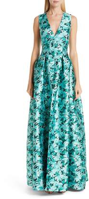 Sachin + Babi Brooke Floral Print Gown