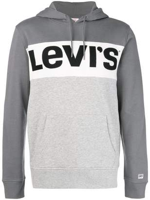 Levi's colour block logo hoodie