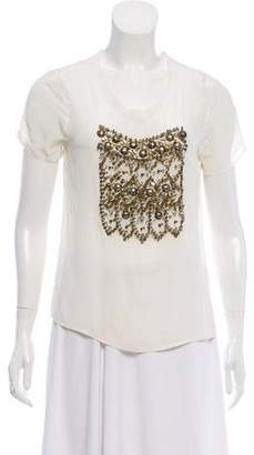 Gryphon Embellished Silk Top w/ Tags