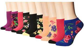 Betsey Johnson 10-Pack Patterned Fashion Low Cuts Women's Low Cut Socks Shoes