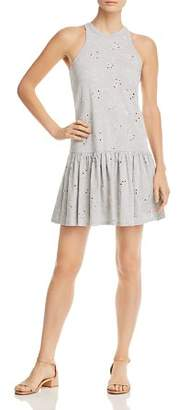 Rebecca Taylor Eyelet Jersey Drop-Waist Dress