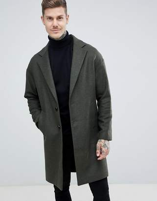 Religion drop shoulder overcoat in khaki