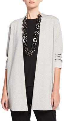 Eileen Fisher Plus Size Herringbone Jacket with Side Slit