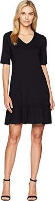 Karen Kane Women's V-Neck Ruffle Hem Dress