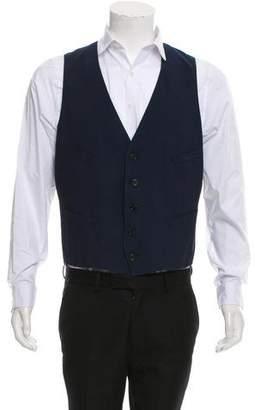 Paul Smith Woven Button-Up Suit Vest