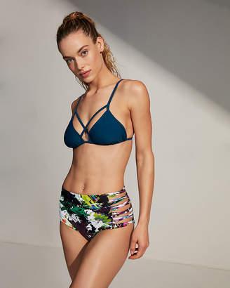 Express High Waisted Strappy Bikini Bottoms