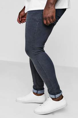 boohoo Big And Tall Super Skinny Jeans