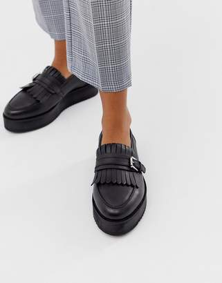 Park Lane leather flatform shoes