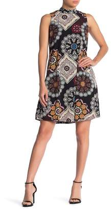 Robbie Bee Mandala Print Sleeveless Tie Back Dress