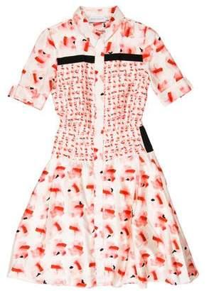 Tanya Taylor Satin Patterned Dress