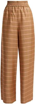 Golden Goose Sophie high-rise checked trousers