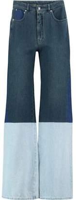 Maison Margiela Patchwork High-Rise Wide-Leg Jeans