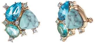 Carolee Cluster Stud Clip-On Earrings