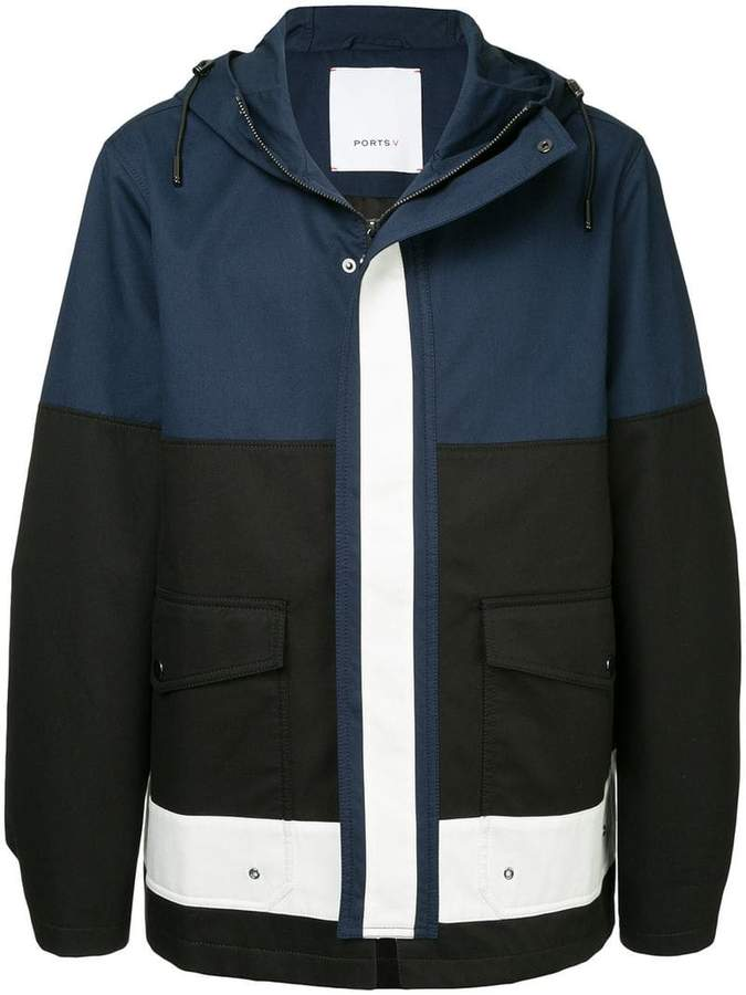 Ports V hooded coat