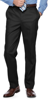 Croft & Barrow Big & Tall Classic-Fit Flat-Front No-Iron Stretch Pants