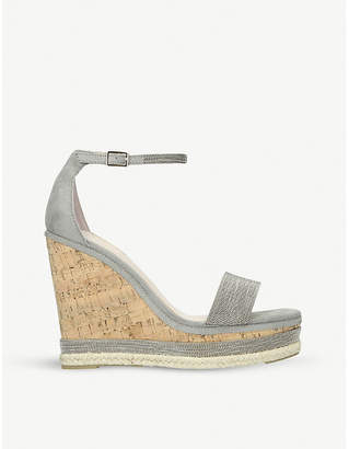 Carvela Kould two-part suede wedge sandals
