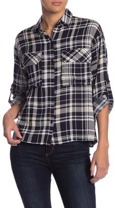 Lush Plaid Boyfriend Shirt