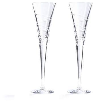 The Collection Home Collection - Set Of 2 Crystal 'Aria' Champagne Flutes