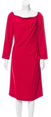 Alberta Ferretti Long Sleeve Knee-Length Dress w/ Tags