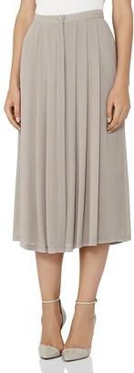REISS Muir Pleated Midi Skirt $245 thestylecure.com