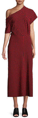 Rachel Comey Textured Gingham Pout Dress