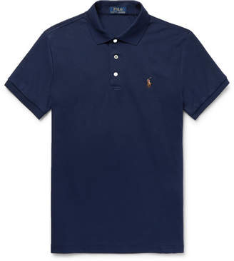 Polo Ralph Lauren Slim-fit Pima Cotton-jersey Polo Shirt - Midnight blue