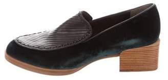 3.1 Phillip Lim Velvet Pointed-Toe Loafers