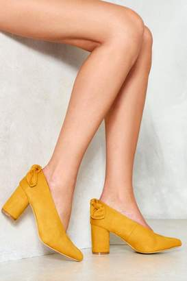 Nasty Gal Harvest Moon Vegan Suede Heel