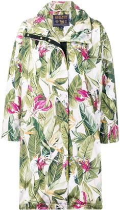 Woolrich leaf print coat