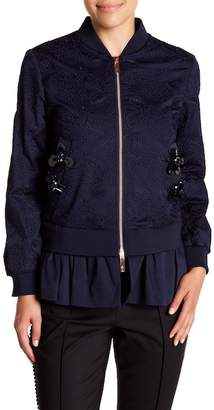 Ted Baker Embellished Bomber With Frill