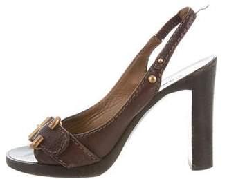 Chloé Leather Slingback Sandals