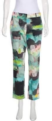 Lela Rose Patterned Mid-Rise Pants