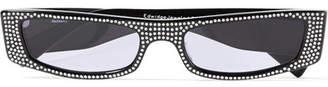 Alexandre Vauthier Alain Mikli Edwidge Crystal-embellished Square-frame Acetate Sunglasses - Black