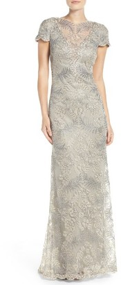 Women's Tadashi Shoji Embroidered Gown $548 thestylecure.com