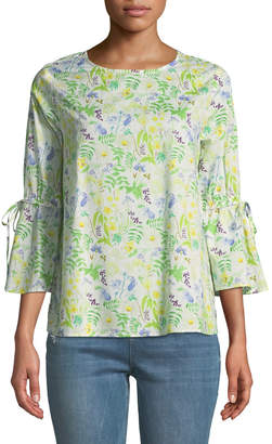 philosophy Floral Bell-Sleeve Cotton Blouse