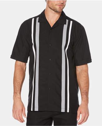 Cubavera Men Striped Panel Short-Sleeve Shirt